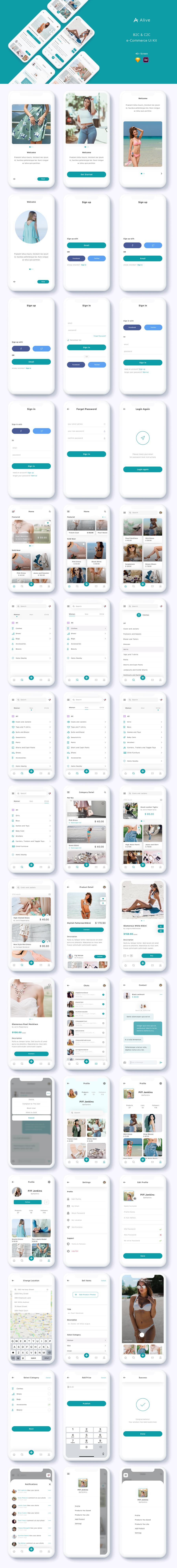 Alive - B2C and C2C eCommerce App Ui Kit - 1