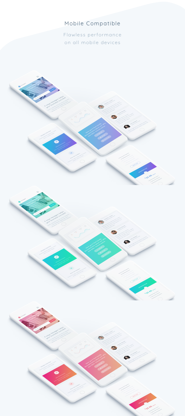 Hexagon - Agency, Startup and SaaS Template - 3