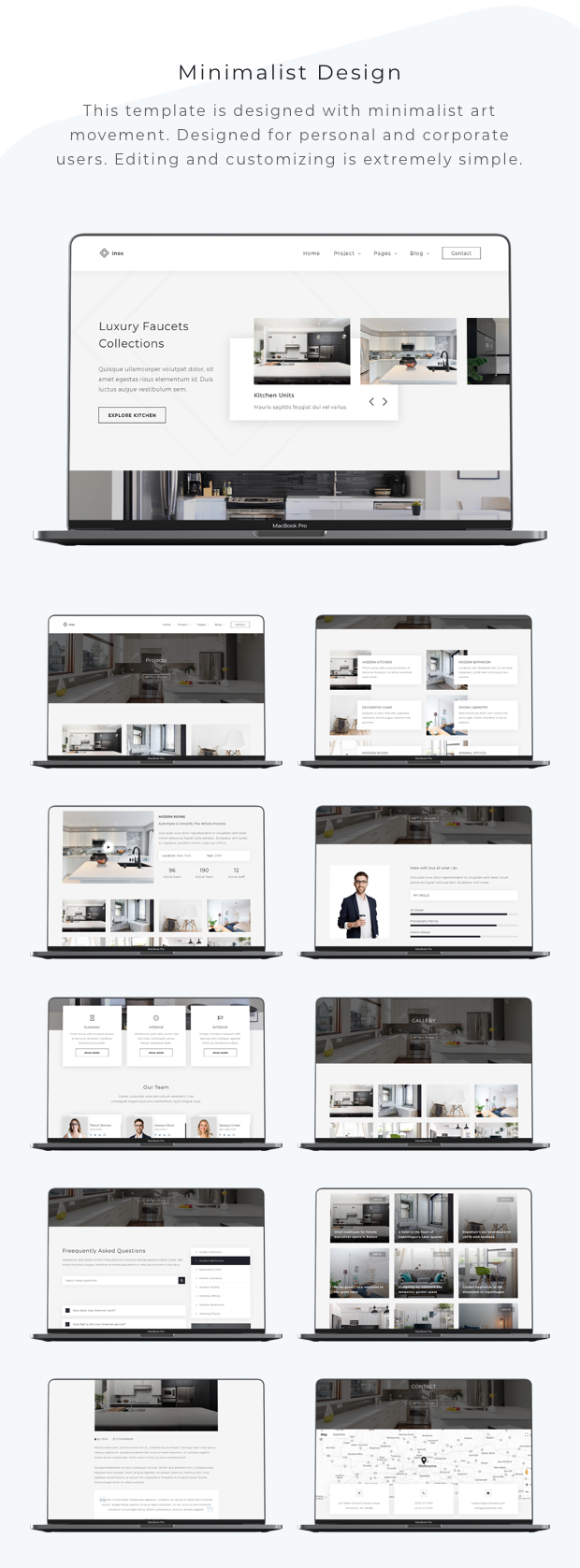 inox - Kitchen & Interior Design Template - 1