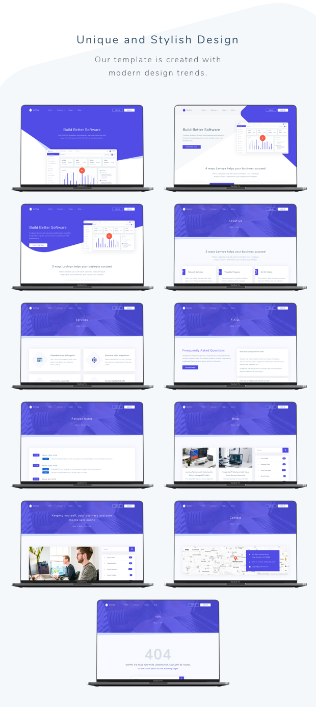 Lavinya - Software and App Template - 1
