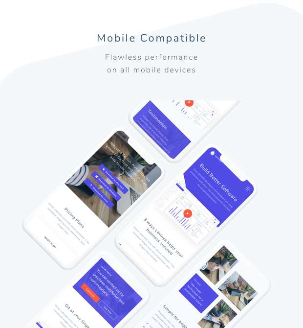 Lavinya - Software and App Template - 2