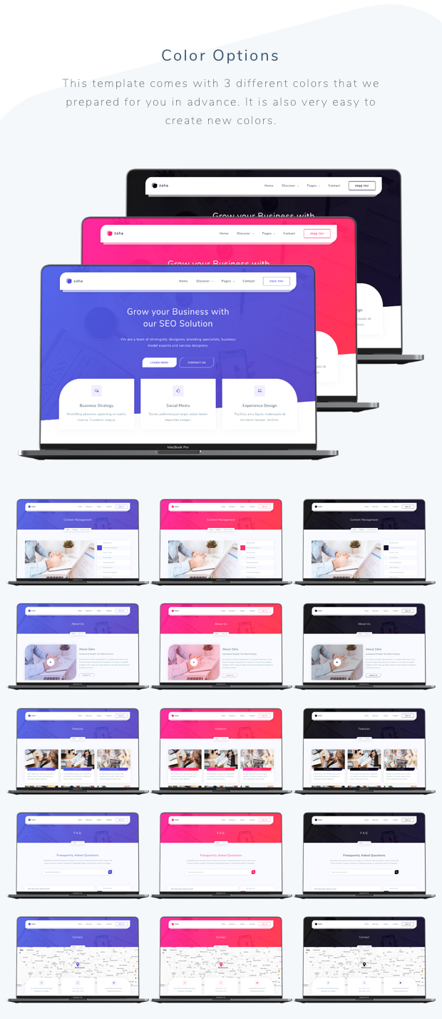Zaha - Agency and SaaS Template - 1